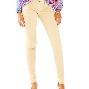 NEW Lilly Pulitzer Worth Skinny pants sand bar 14